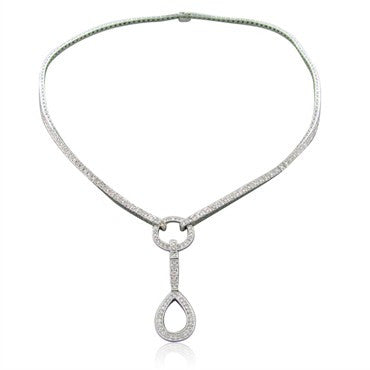thumbnail image of Simon G 18k White Gold 1.35ct Diamond Necklace With Removable Drop