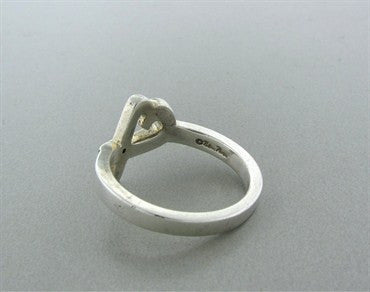 image of Tiffany & Co Paloma Picasso Loving Heart Sterling Silver Diamond Ring