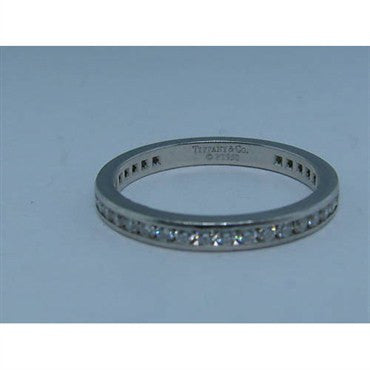 thumbnail image of Tiffany & Co Platinum Diamond Wedding Ring Eternity