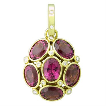 image of Temple St. Clair 18k Gold Pink Tourmaline Diamond Nirvana Pendant