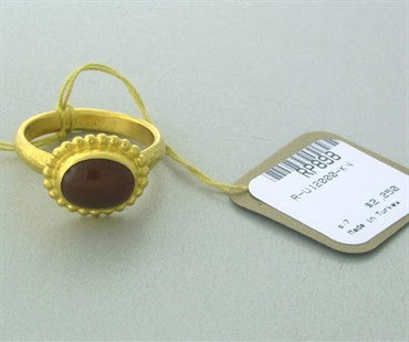image of New Gurhan 24K Gold Ruby Cabochon Ring