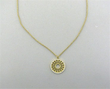 thumbnail image of Tiffany & Co Paloma Picasso Venezia Stella 18K Gold Diamond Necklace