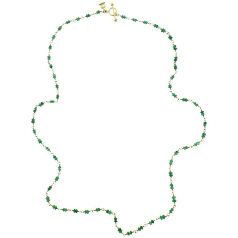 Temple St. Clair Karina Gold Emerald Bead Necklace