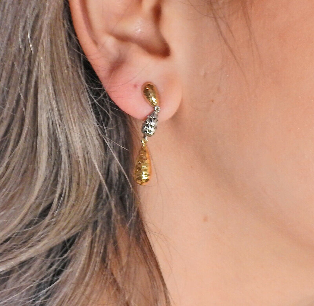 thumbnail image of John Hardy Sterling Silver Gold Teardrop Earrings