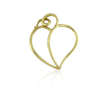 image of Vintage Tiffany & Co Picasso 18k Gold Heart Pendant