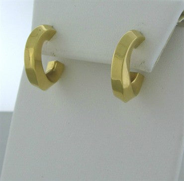 thumbnail image of Estate Tiffany & Co 18K Yellow Gold Hoop Earrings