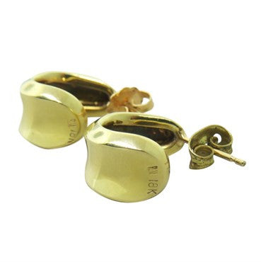 thumbnail image of Robert Lee Morris 18K Gold Huggie Earrings