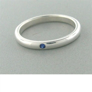 thumbnail image of Estate Tiffany & Co Elsa Peretti Sterling Sapphire Ring