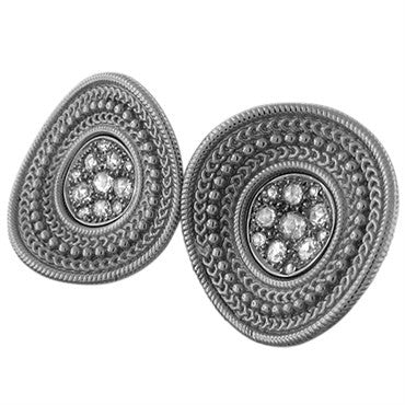 image of New Carrera Y Carrera 18K White Gold Ruedo Diamond Earrings