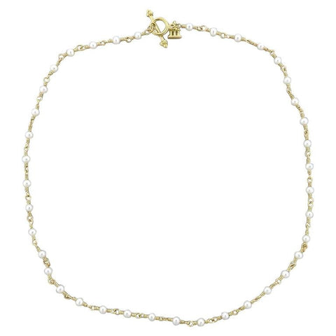 Temple St. Clair Gold Pearl Karina Necklace