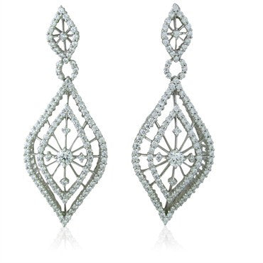 image of New Hearts On Fire Tantalizing 18K Gold 3.91ct Diamond Drop Earrings