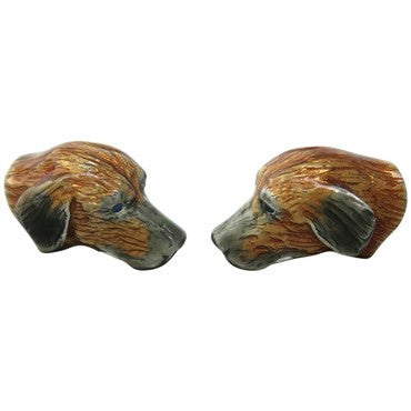 image of Deakin & Francis Sterling Silver Labrador Dog Cufflinks