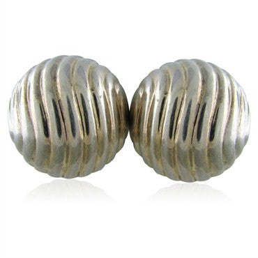 image of Modernist Joachim S'paliu Spain Sterling Silver Large Clip Earrings