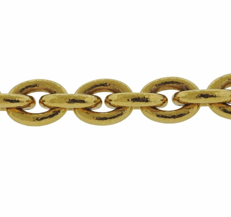 thumbnail image of Elizabeth Locke Ruby Gold Link Toggle Bracelet