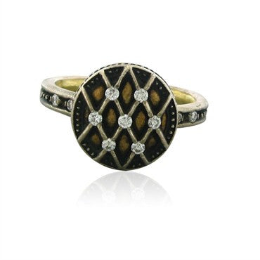 image of New Gurhan Capitone Collection 24K Gold Diamond Ring