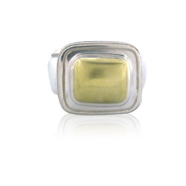 thumbnail image of New Slane & Slane Sterling 18k Gold Column Link Ring