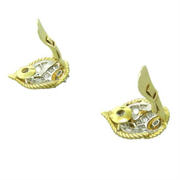 thumbnail image of 1960s Van Cleef & Arpels Diamond 18K Gold Earrings