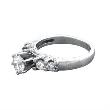 thumbnail image of Hearts On Fire Platinum 0.97ctw Diamond Ideal Engagement Ring