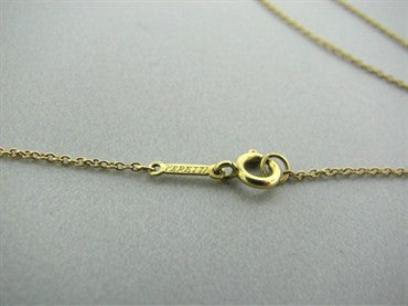 thumbnail image of Estate Tiffany & Co Elsa Peretti Teardrop 18K Yellow Gold Necklace