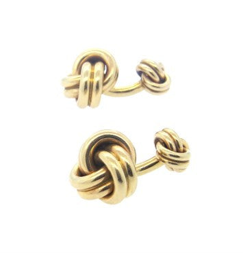 thumbnail image of Tiffany & Co. Massive 14k Gold Knot Cufflinks