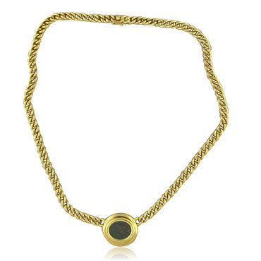 image of Bvlgari 18K Gold Thurium IV Century B.C Ancient Coin Pendant Necklace