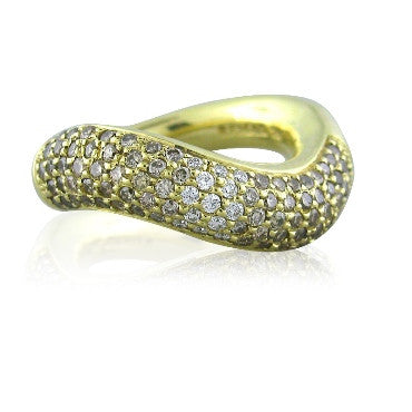thumbnail image of Faraone Menella 18k Gold Fancy Diamond Ring