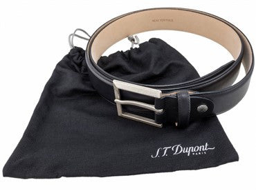 thumbnail image of ST Dupont Black Leather Casual Chic Belt 7830000