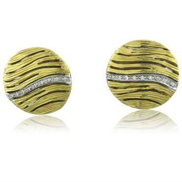 image of Roberto Coin Elephantino 18K Gold Diamond Circle Earrings