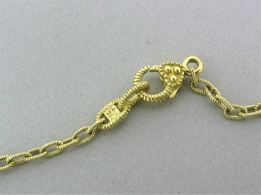 thumbnail image of Judith Ripka 18K Yellow Gold Diamond Necklace