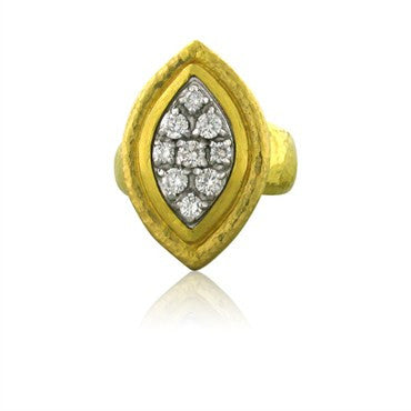 thumbnail image of New Gurhan 24k Gold 0.88ctw Diamond Ring