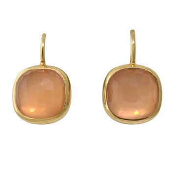 image of Pomellato Cipria 18k Gold Rose Quartz Earrings