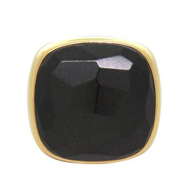 image of New Pomellato Victoria 18K Gold Jet Ring
