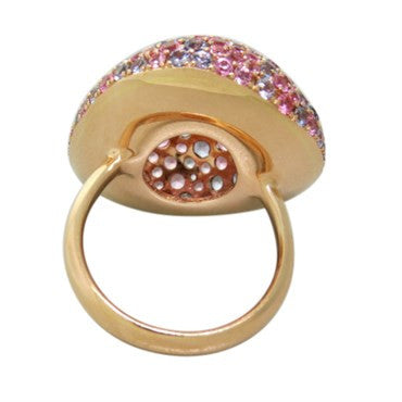 thumbnail image of Modern Gold Multi Color Sapphire Ring