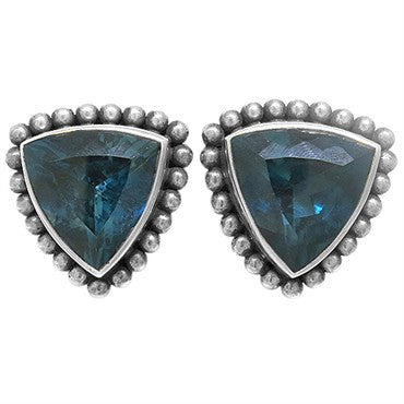 thumbnail image of Stephen Dweck Sterling Silver London Blue Topaz Earrings