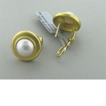thumbnail image of New Slane And Slane 18k Gold Pearl Earrings
