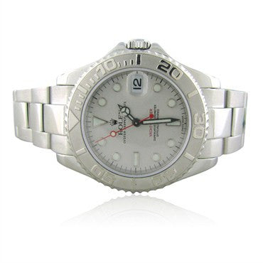 thumbnail image of Rolex Yacht Master Stainless Steel Platinum Watch Ref 168622 Box Paper