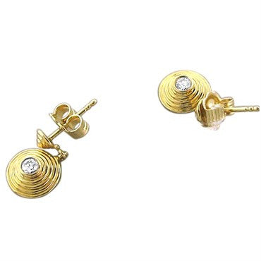 image of New Temple St Clair 18k Gold Diamond Earrings