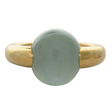 thumbnail image of New Pomellato Luna 18k Gold Aquamarine Ring