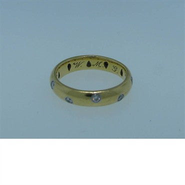 thumbnail image of Tiffany & Co 18k Gold Platinum Diamond Etoile Ring