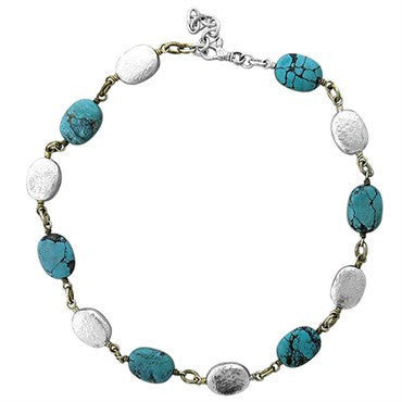 image of Gurhan Sterling Silver Turquoise Necklace