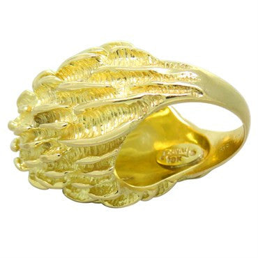 thumbnail image of Large Henry Dunay 18k Gold Dome Ring