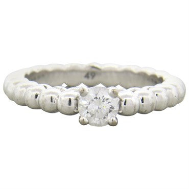 image of Van Cleef & Arpels Perlee Solitaire Gold Diamond Engagement Ring
