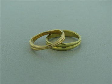 thumbnail image of Estate Tiffany 18k Yellow Gold Stackable Band Rings
