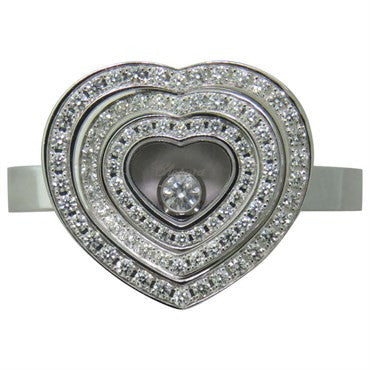 image of Chopard Happy Spirit Floating Diamond Gold Heart Ring