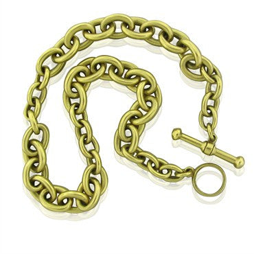 image of Estate Kieselstein Cord 18K Gold Link Chain Necklace 196.7g