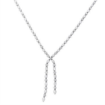 thumbnail image of Harry Winston Platinum 11.21ctw Diamond Lariat Necklace