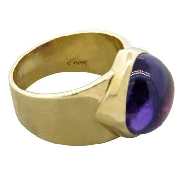 thumbnail image of Gumps Amethyst Gold Ring