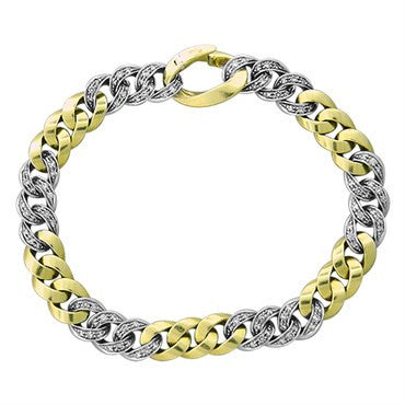 image of Pomellato 18k Gold Diamond Link Bracelet