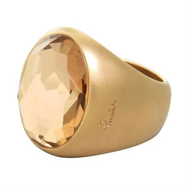 image of New Pomellato Narciso Gold Rock Crystal Ring