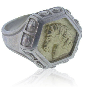 thumbnail image of New Slane & Slane 18k Gold & Sterling Epona Ring